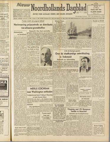 Nieuw Noordhollandsch Dagblad : voor Alkmaar en omgeving 1949-01-06