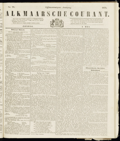 Alkmaarsche Courant 1873-05-04