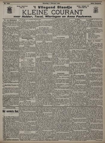 Vliegend blaadje : nieuws- en advertentiebode voor Den Helder 1908-02-01