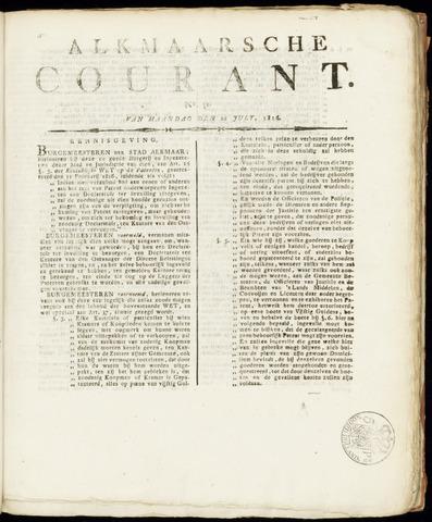 Alkmaarsche Courant 1816-07-22