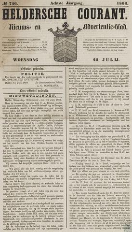Heldersche Courant 1868-07-22