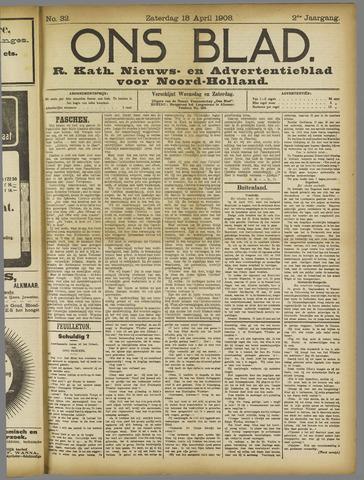 Ons Blad : katholiek nieuwsblad voor N-H 1908-04-18