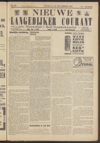 Nieuwe Langedijker Courant 1932-11-22
