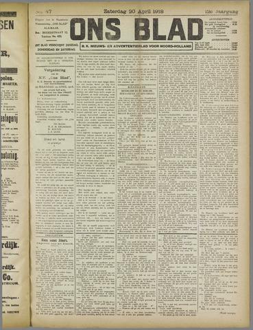 Ons Blad : katholiek nieuwsblad voor N-H 1918-04-20