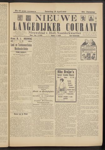 Nieuwe Langedijker Courant 1929-04-13