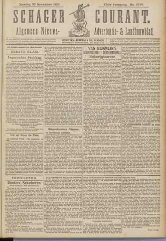 Schager Courant 1920-11-30