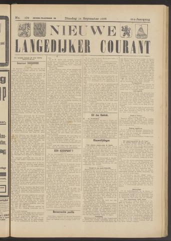 Nieuwe Langedijker Courant 1926-09-14