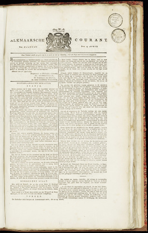 Alkmaarsche Courant 1829-04-13