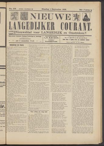 Nieuwe Langedijker Courant 1925-09-01