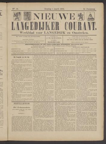 Nieuwe Langedijker Courant 1894-04-01