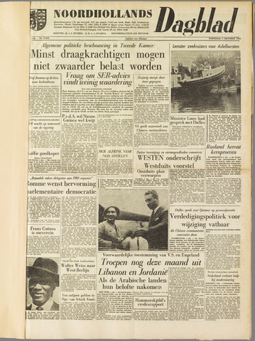 Noordhollands Dagblad : dagblad voor Alkmaar en omgeving 1958-10-01