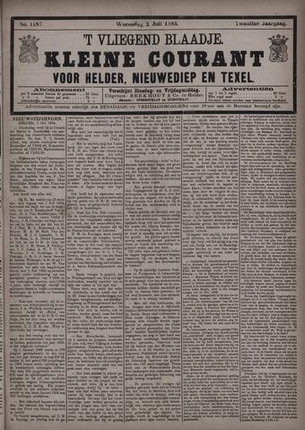 Vliegend blaadje : nieuws- en advertentiebode voor Den Helder 1884-07-02