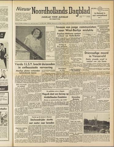 Nieuw Noordhollandsch Dagblad : voor Alkmaar en omgeving 1952-08-04