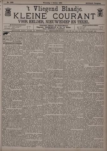 Vliegend blaadje : nieuws- en advertentiebode voor Den Helder 1890-10-01