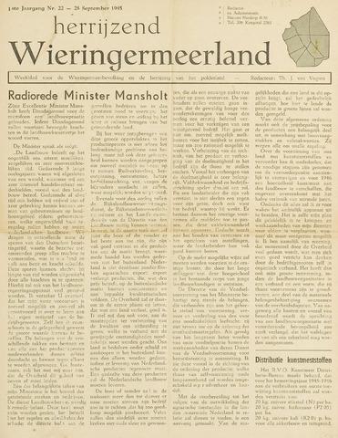Herrijzend Wieringermeerland 1945-09-28