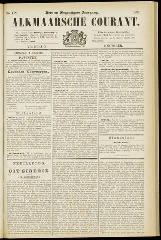 Alkmaarsche Courant 1891-10-02