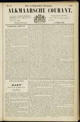 Alkmaarsche Courant 1892-02-03