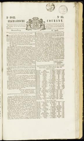Alkmaarsche Courant 1842-04-11