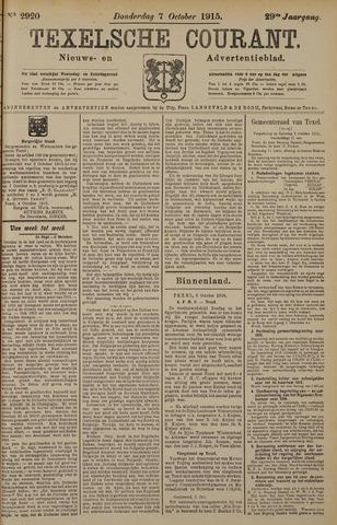 Texelsche Courant 1915-10-07