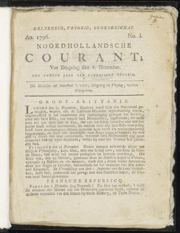 Noordhollandsche Courant 1796
