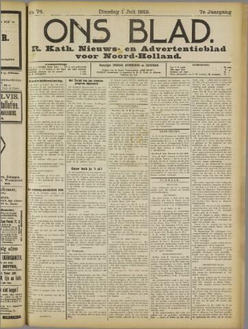 Ons Blad : katholiek nieuwsblad voor N-H 1913-07-01