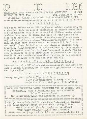 Op De Hoek, weekblad voor Akersloot 1964-07-24