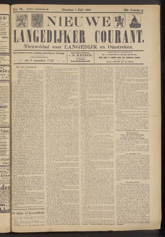 Nieuwe Langedijker Courant 1924-07-01