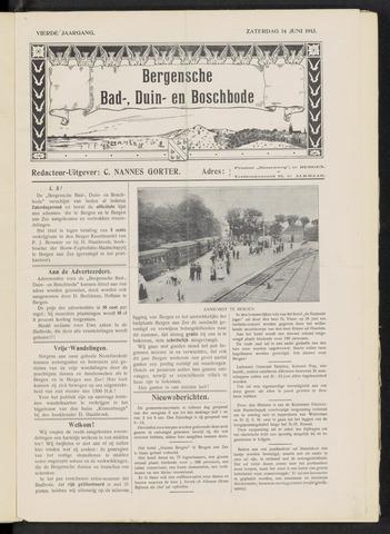 Bergensche bad-, duin- en boschbode 1913-06-14
