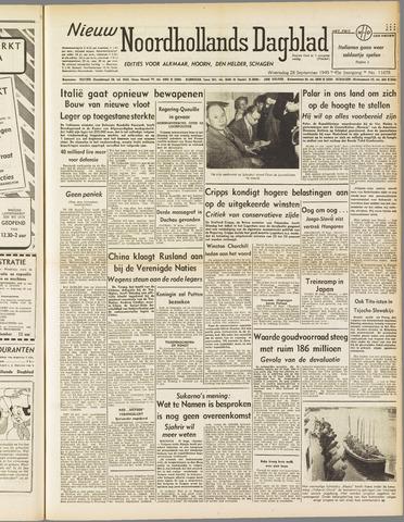 Nieuw Noordhollandsch Dagblad : voor Alkmaar en omgeving 1949-09-28