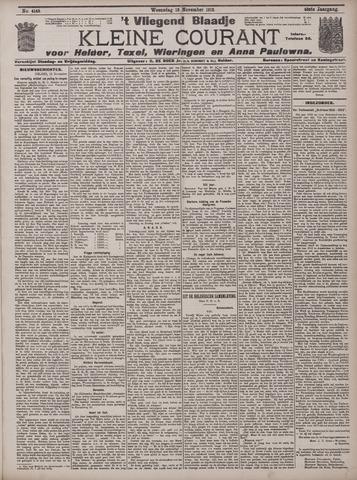 Vliegend blaadje : nieuws- en advertentiebode voor Den Helder 1912-11-13