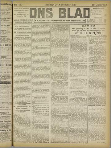 Ons Blad : katholiek nieuwsblad voor N-H 1917-11-27