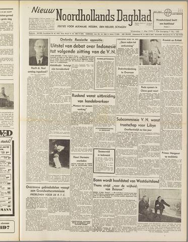 Nieuw Noordhollandsch Dagblad : voor Alkmaar en omgeving 1949-05-11