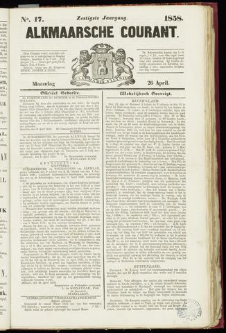 Alkmaarsche Courant 1858-04-26