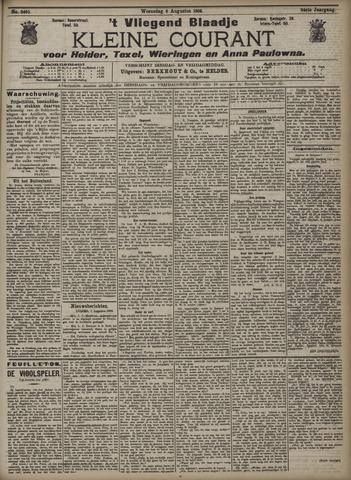 Vliegend blaadje : nieuws- en advertentiebode voor Den Helder 1906-08-08