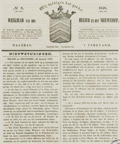 Weekblad van Den Helder en het Nieuwediep 1858-02-01