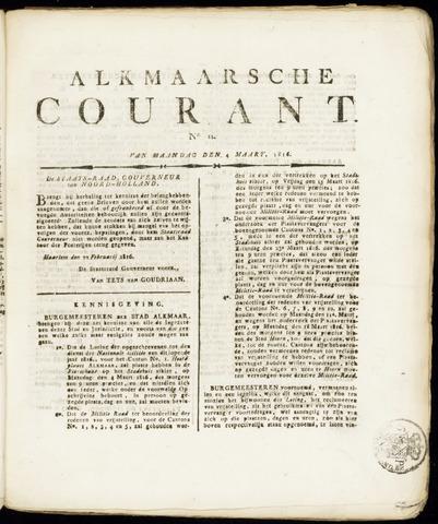 Alkmaarsche Courant 1816-03-04