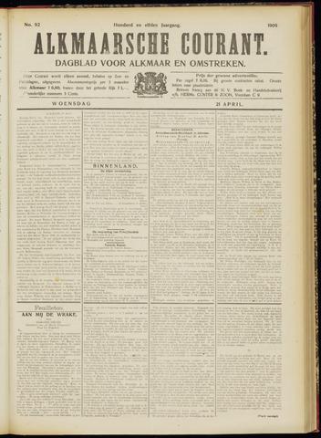 Alkmaarsche Courant 1909-04-21