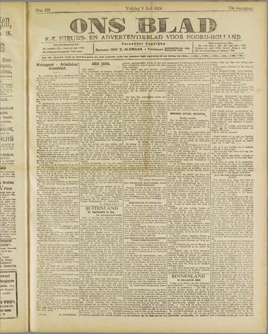 Ons Blad : katholiek nieuwsblad voor N-H 1920-07-09