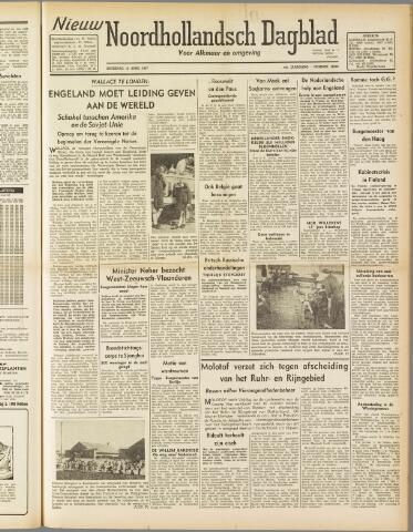 Nieuw Noordhollandsch Dagblad : voor Alkmaar en omgeving 1947-04-12