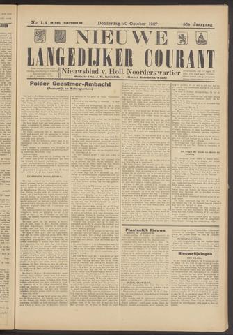 Nieuwe Langedijker Courant 1927-10-20