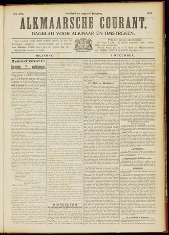 Alkmaarsche Courant 1907-12-09