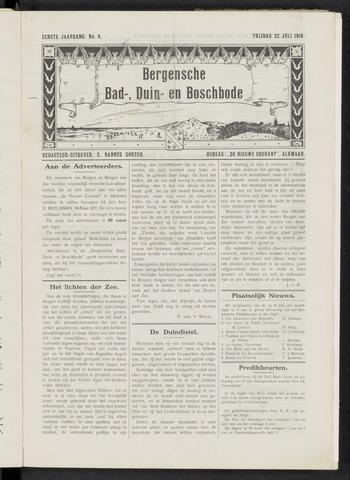 Bergensche bad-, duin- en boschbode 1910-07-22
