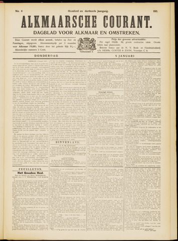 Alkmaarsche Courant 1911-01-05