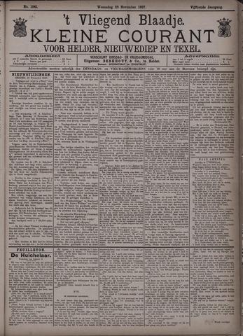 Vliegend blaadje : nieuws- en advertentiebode voor Den Helder 1887-11-23