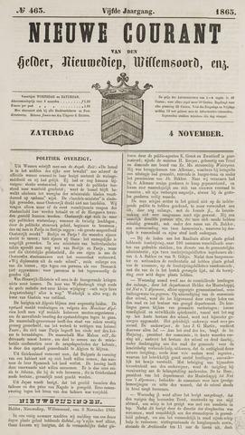 Nieuwe Courant van Den Helder 1865-11-04