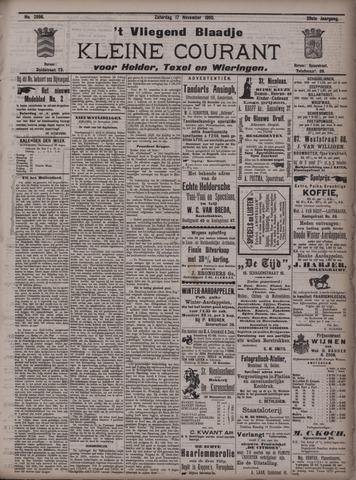 Vliegend blaadje : nieuws- en advertentiebode voor Den Helder 1900-11-17