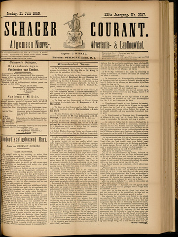 Schager Courant 1889-07-21
