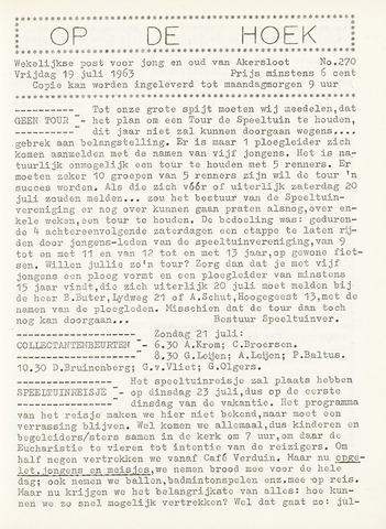 Op De Hoek, weekblad voor Akersloot 1963-07-19