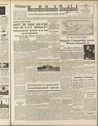 Nieuw Noordhollandsch Dagblad : voor Alkmaar en omgeving 1949-02-28