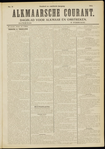 Alkmaarsche Courant 1912-02-17